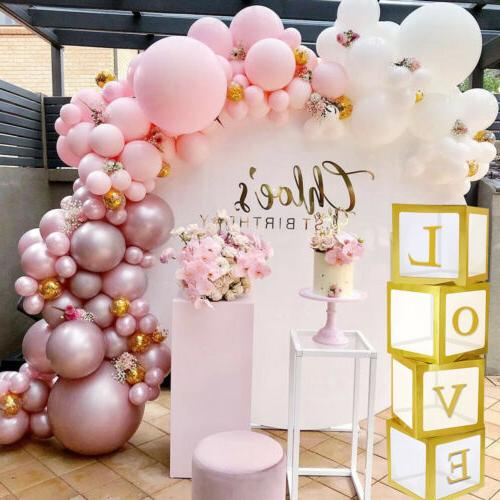 12'' Gold Transparent Baby Shower Boxes for Decor