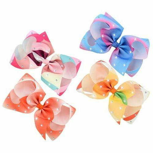 12pcs Big Hair Bow Clips Clip for Infants Toddler Kid