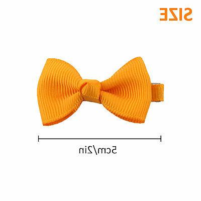 20Pcs Bows Band Clip Grosgrain Ribbon Alligator Girl Baby Kids