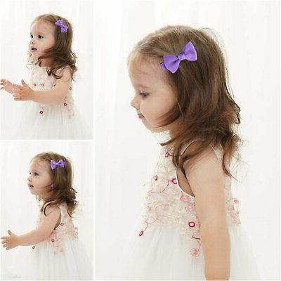 20Pcs Bows Clip Grosgrain Alligator For Kids