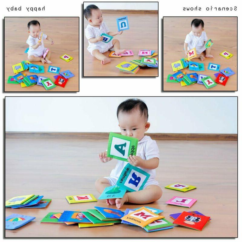 LALABABY 26 Letters Card with Early Education Toy Over Yea