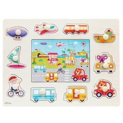 3-7T Baby Kids Letter Puzzle Wooden Animal Early