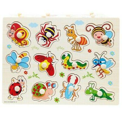 3-7T Baby Kids Letter Puzzle Wooden Jigsaw Early Educational Toy