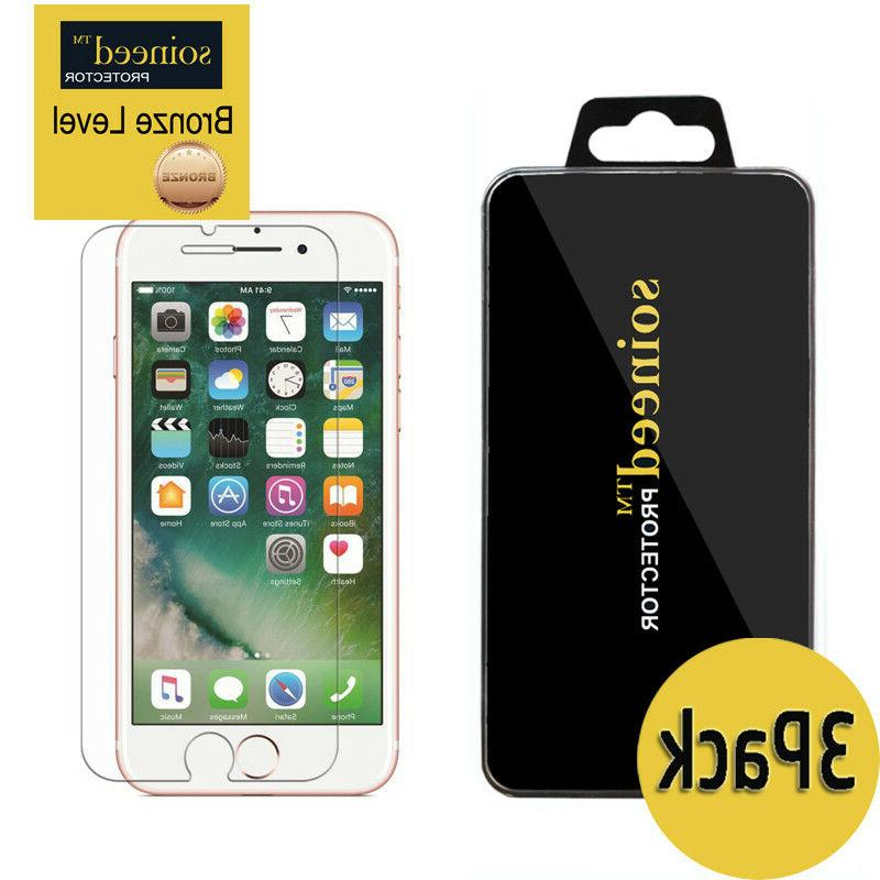 SOINEED For Apple iPhone 7/ 7 Plus Tempered Glass Screen Pr
