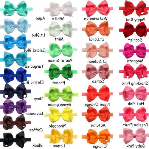 "30Pc 4.5"" Bows for Newborn Big Bow"
