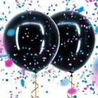 "36""Gender Reveal Black Balloon With Confetti Birthday Balloo"
