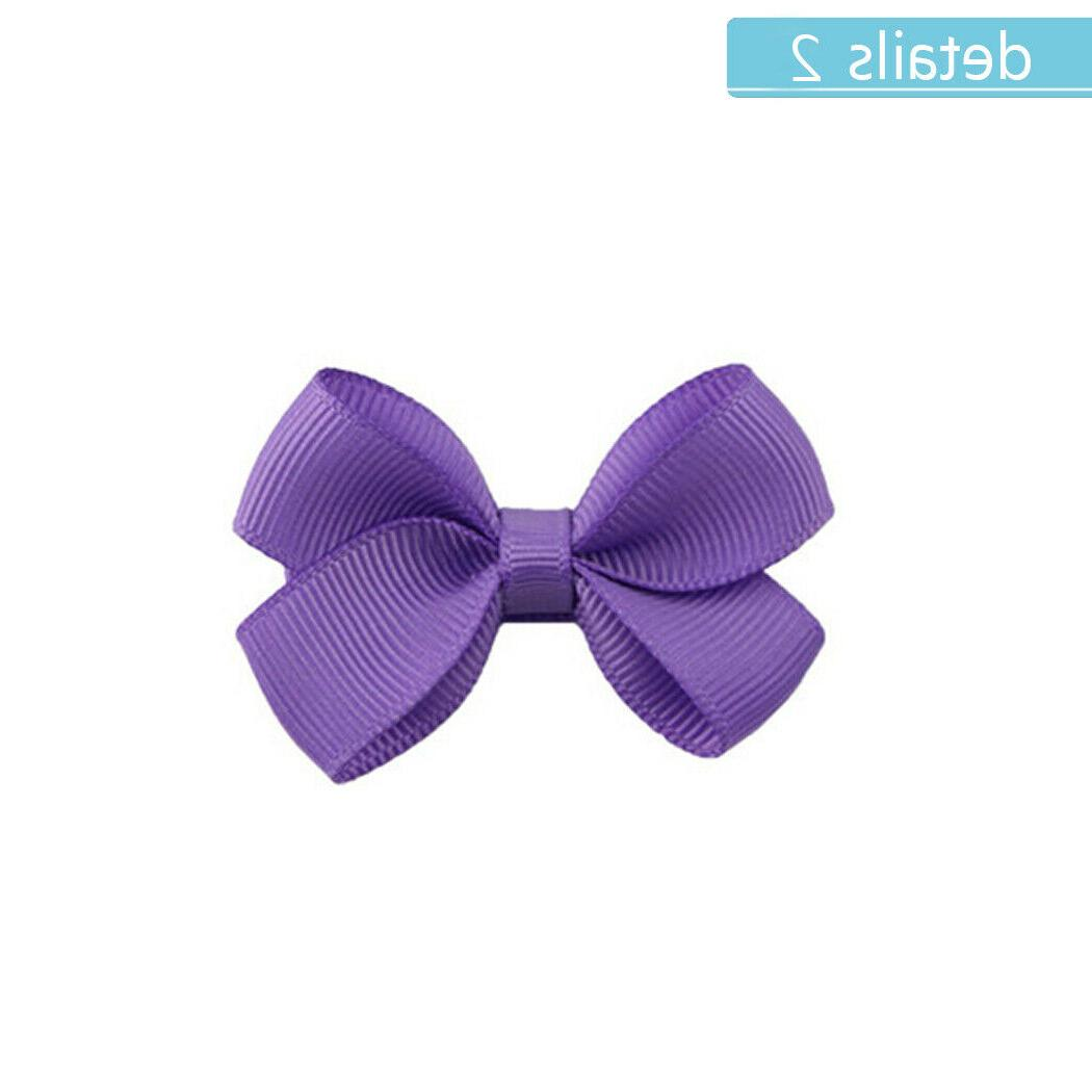 40pcs 2 Inch Hair Bows Lined Clips Baby Toddler Infants