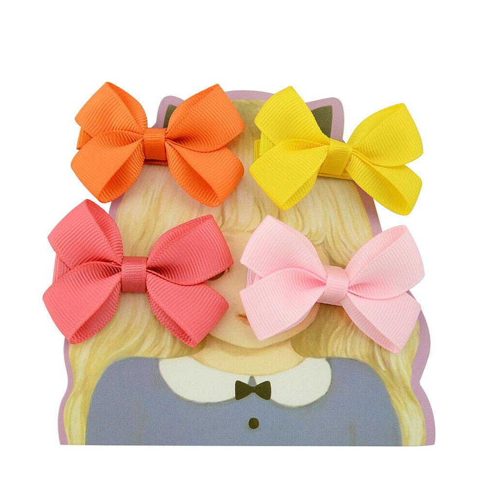 40pcs Boutique 2 Hair Bows Lined Clips Baby Toddler