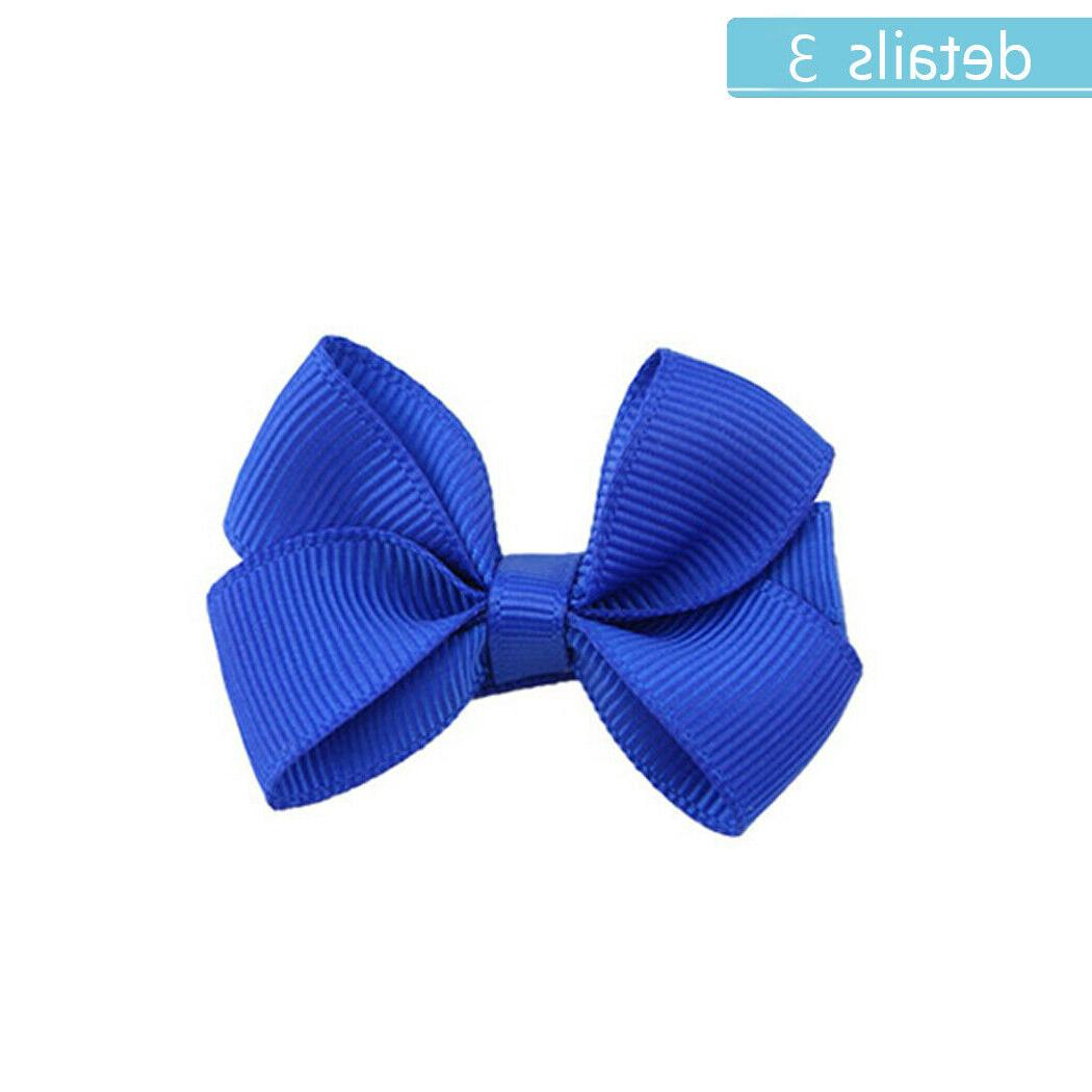 40pcs Boutique 2 Inch Hair Bows Clips Baby Toddler
