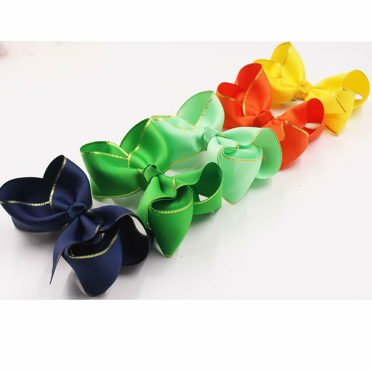 40Pieces Boutique Ribbon Hair Bows Clips For Baby