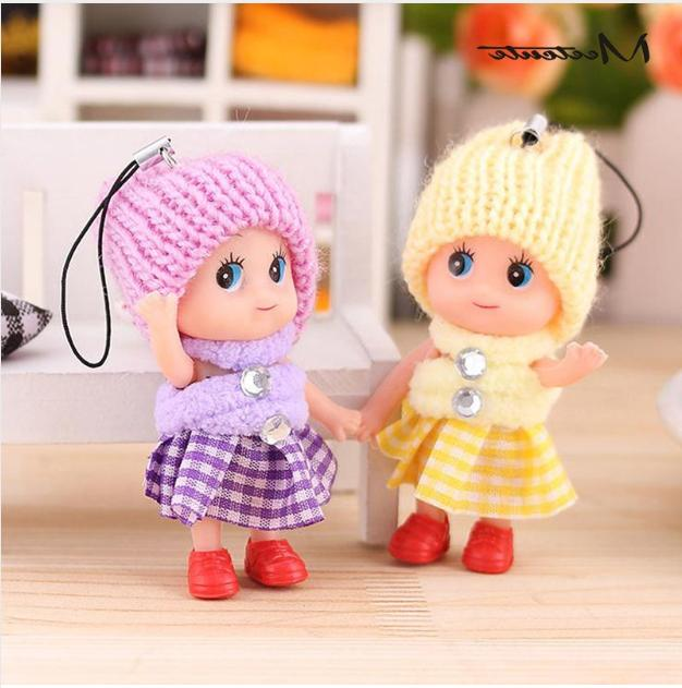 5Pcs Soft Interactive Baby Dolls Mini Doll Cute