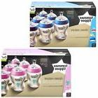 6 Tommee Tippee Closer Nature Baby Feeding Bottle 260ml Deco