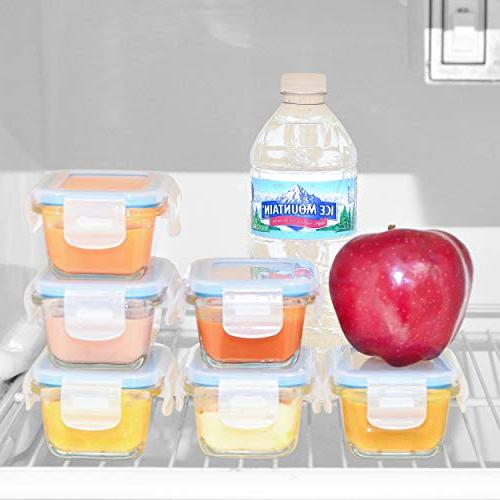 Elacra Food Storage Containers Glass Containers with & Locking Lids Freezer Microwave Safe