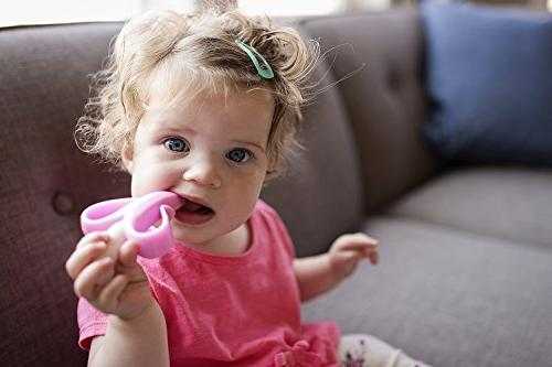 Baby Toothbrush, Pink and Infant