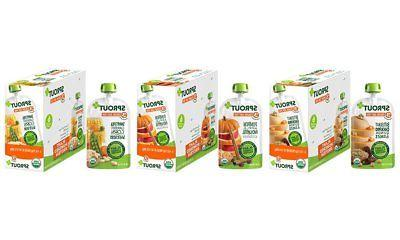 Sprout Organic Baby Food Pouches Stage 3, Plant Protein Vari