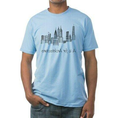 a is for architecture skyline t shirt