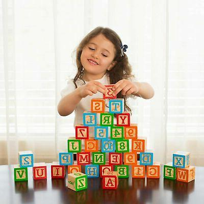 ABC Wooden Building for Baby. Size w/