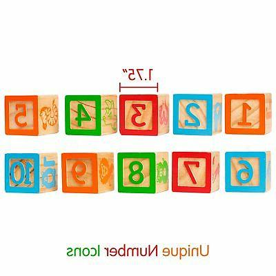 ABC Wooden Building for Baby. Large Size Num...