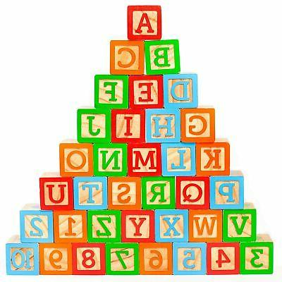 abc wooden building blocks for baby large