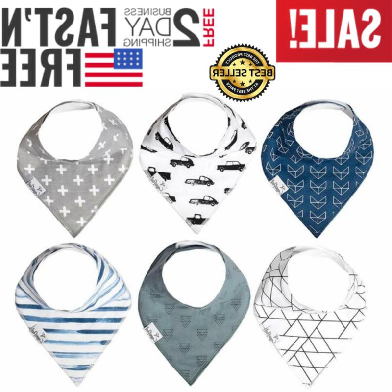 baby bandana 6 pack for drooling