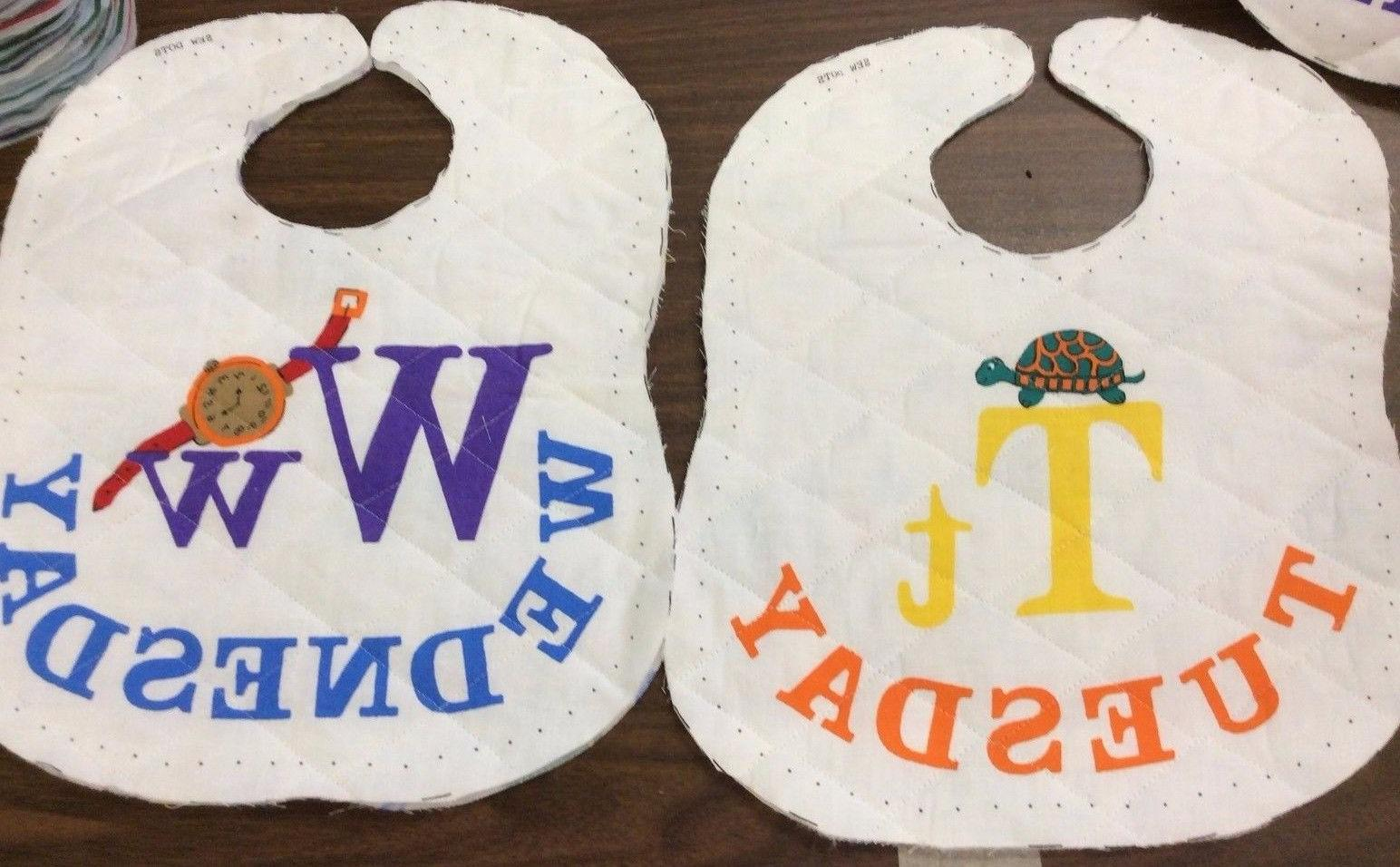 BABY BIBS QUILTED & REVERSIBLE FOR EVERYDAY OF THE WEEK