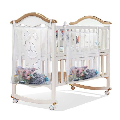 Baby Cot Bed Crib Nursery Hanging Storage Organizer Bag for