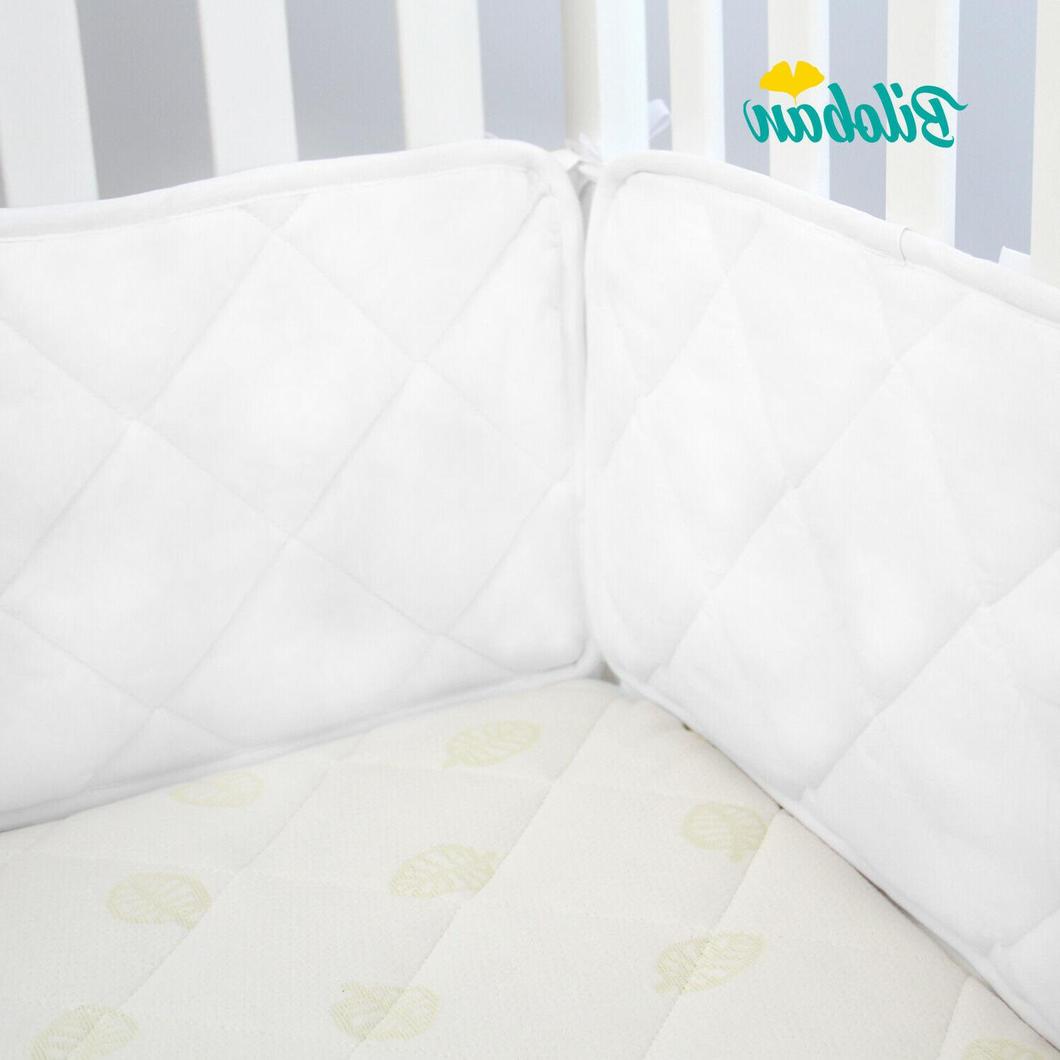 """Baby Crib Bumper Pad for 52"""" x 28"""" Toddler Bed Cot Protector"""