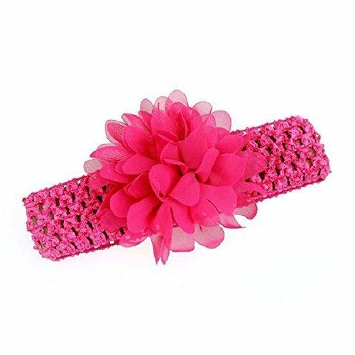 Baby Girl's Headbands Colorful Flower for Newborn and