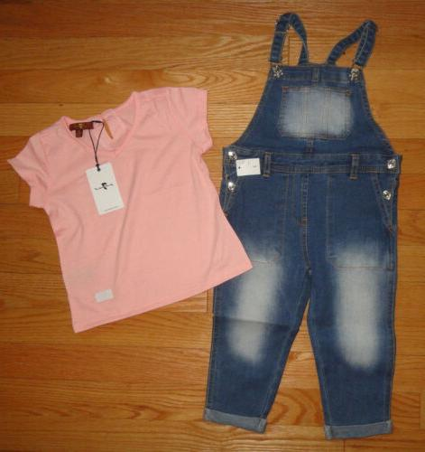baby toddler girls overalls shirt set outfit