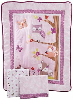 Brand New Bedtime Originals Lavender Woods 3 Piece Bedding S