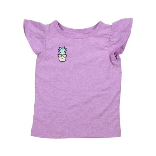Carter's 3 Piece Violet Pineapple for Girls T-Shirt, Top, Shorts