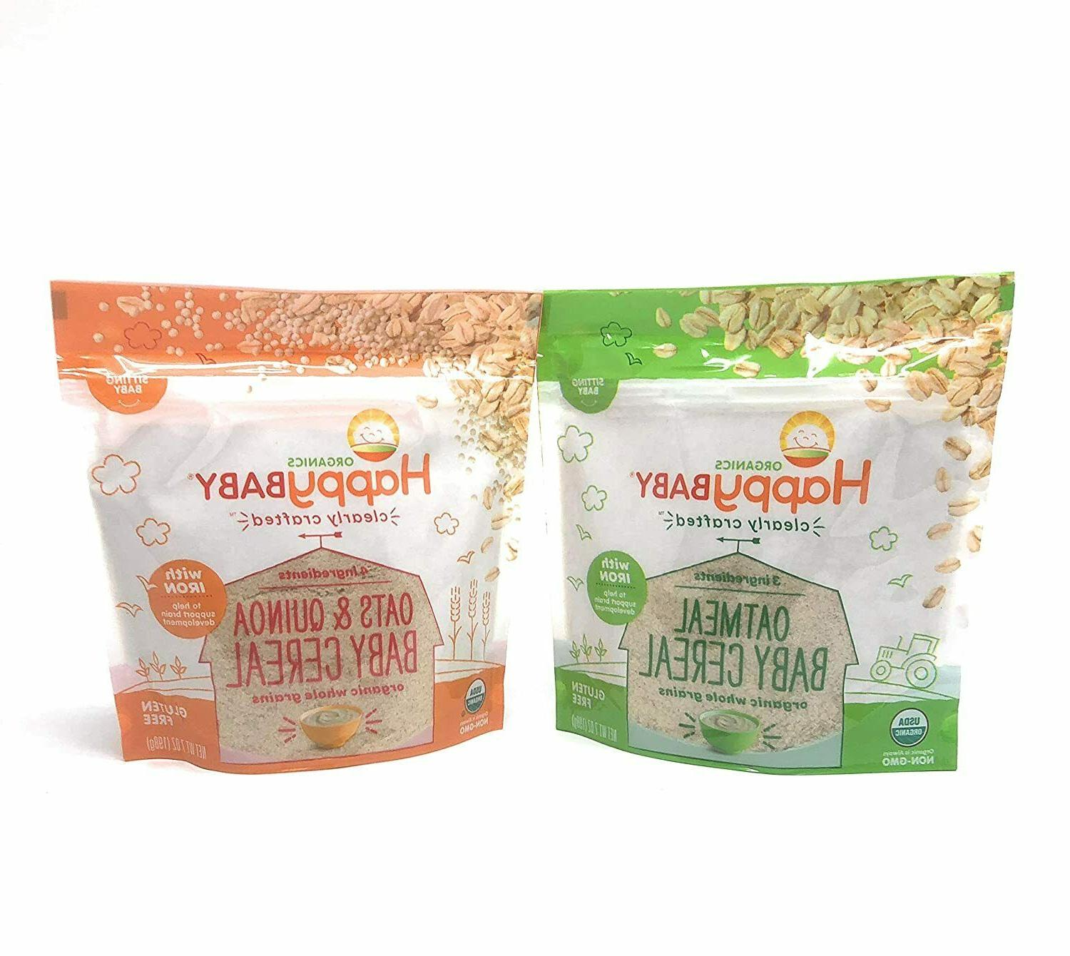 clearly crafted organic baby cereal 2pk oatmeal