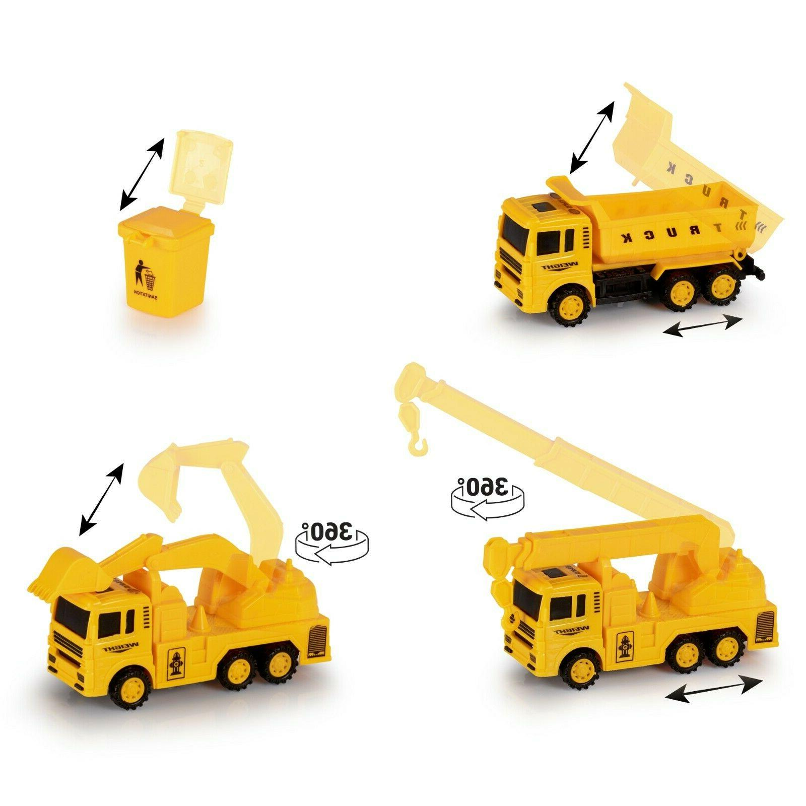 Construction Trucks Toy Toys for Kids and 3 Year Old & Up