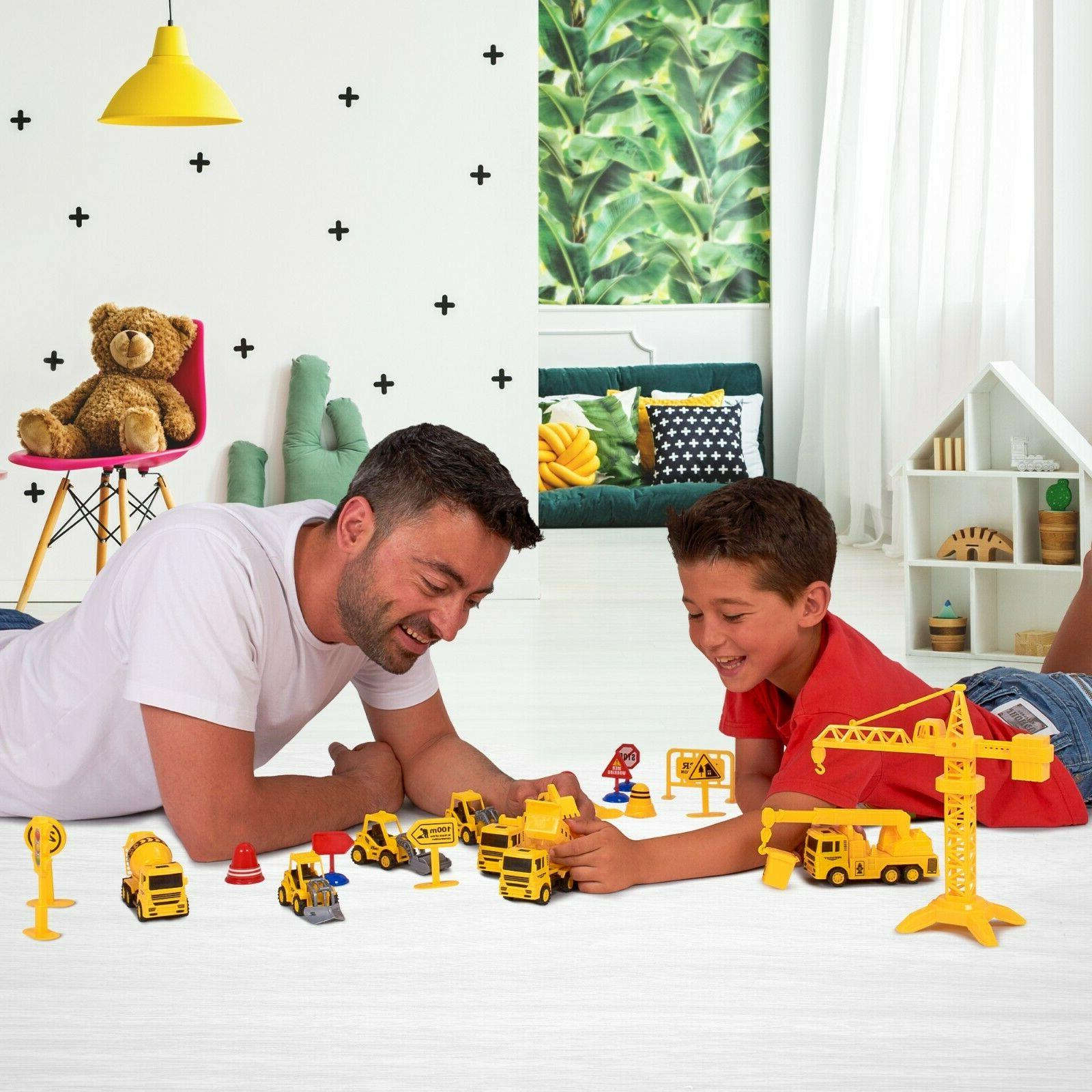Construction Trucks Toy Set Toys Kids and Year Old & Up