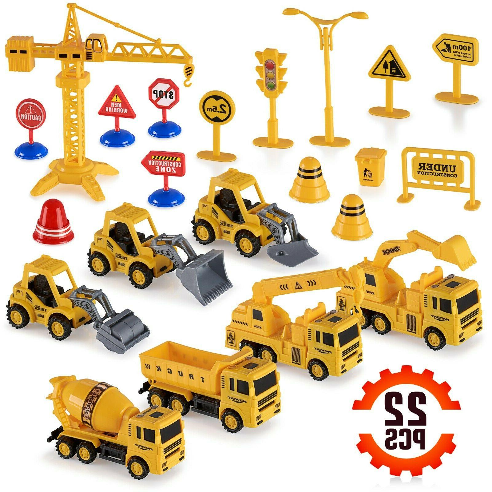 construction trucks toy set toys for kids