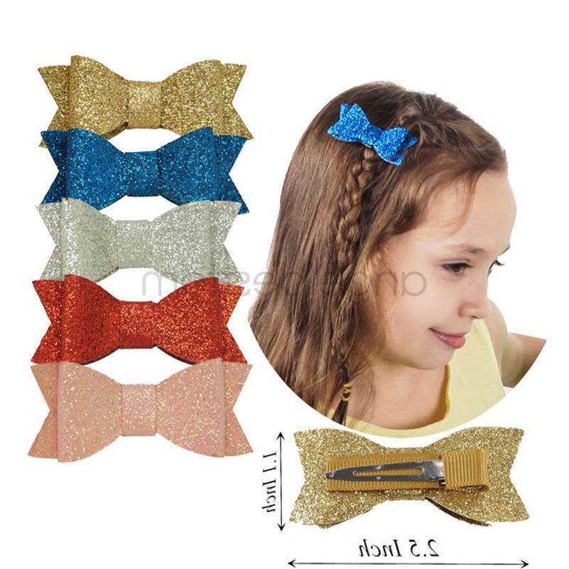 Cute Hair Bow For Baby Girls Sweet Handmade Leather Fashion