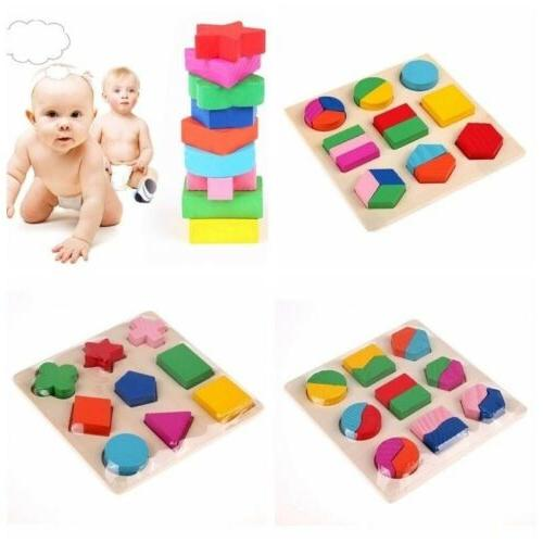 Educational Geometry Wood Baby Early