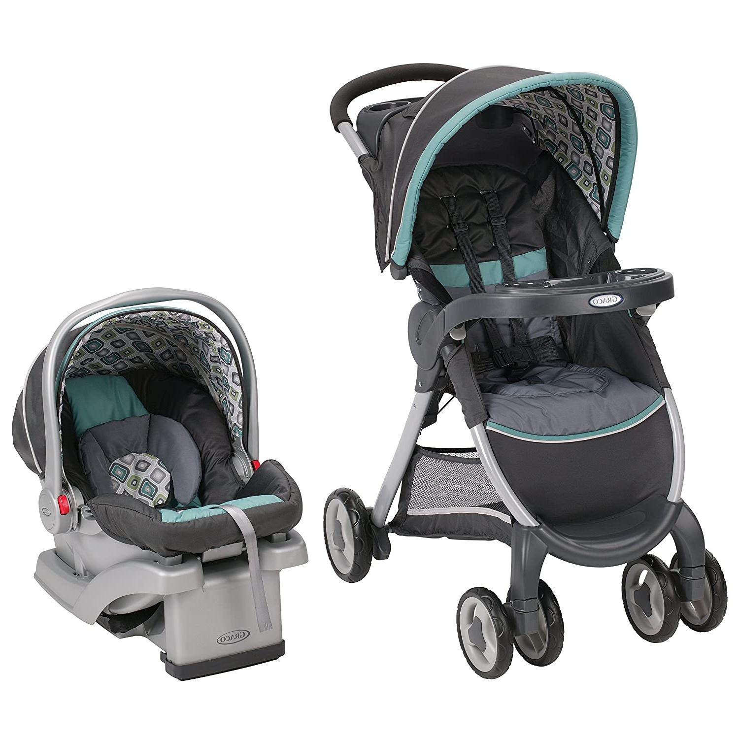 Graco FastAction Fold Click Connect Travel System Stroller,