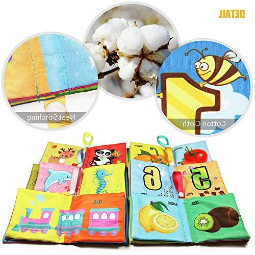 teytoy Book, Fabric Cloth Toys Activity Book for and Kids Perfect Baby 6