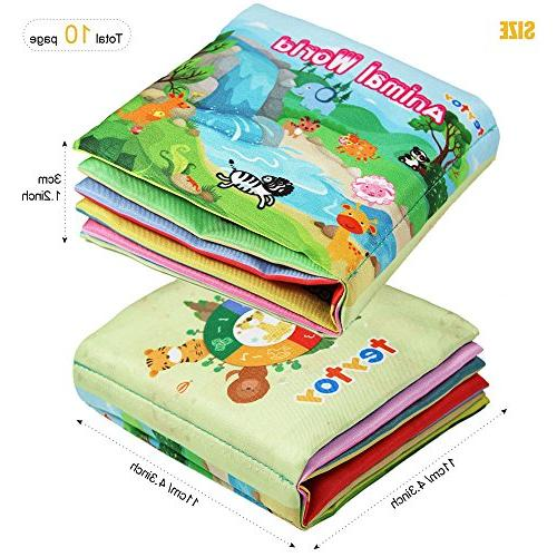 teytoy First Book, Baby Cloth Early Toys Book Toddler, and Kids Perfect Baby Shower -Pack