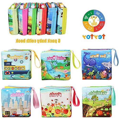 teytoy Book, Nontoxic Fabric Cloth Books Toys Activity Book for Infants and Kids Perfect for Baby of 6