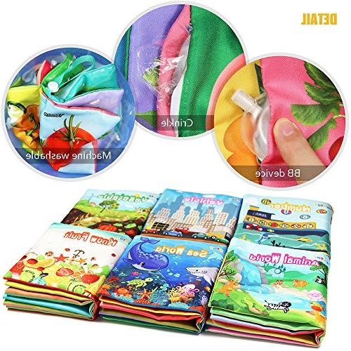 teytoy My First Book, Nontoxic Book for Toddler, and Kids Baby Shower -Pack 6