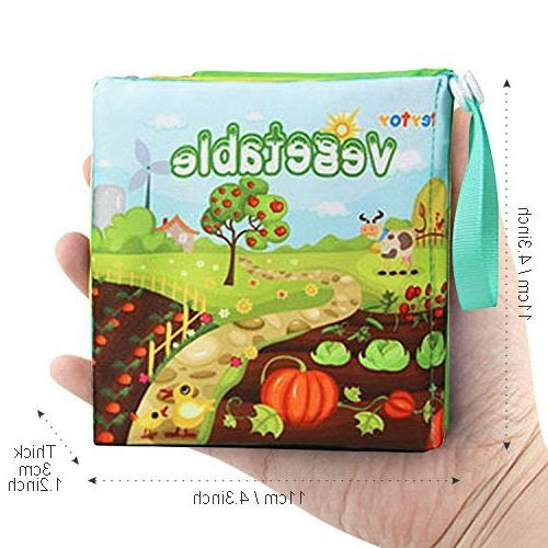 teytoy Soft Book, Nontoxic Fabric Baby Cloth Books Early Toys Book for and Kids Baby 6
