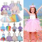 Floral Kids Girls Unicorn Bridesmaid Pageant Party Formal Pr