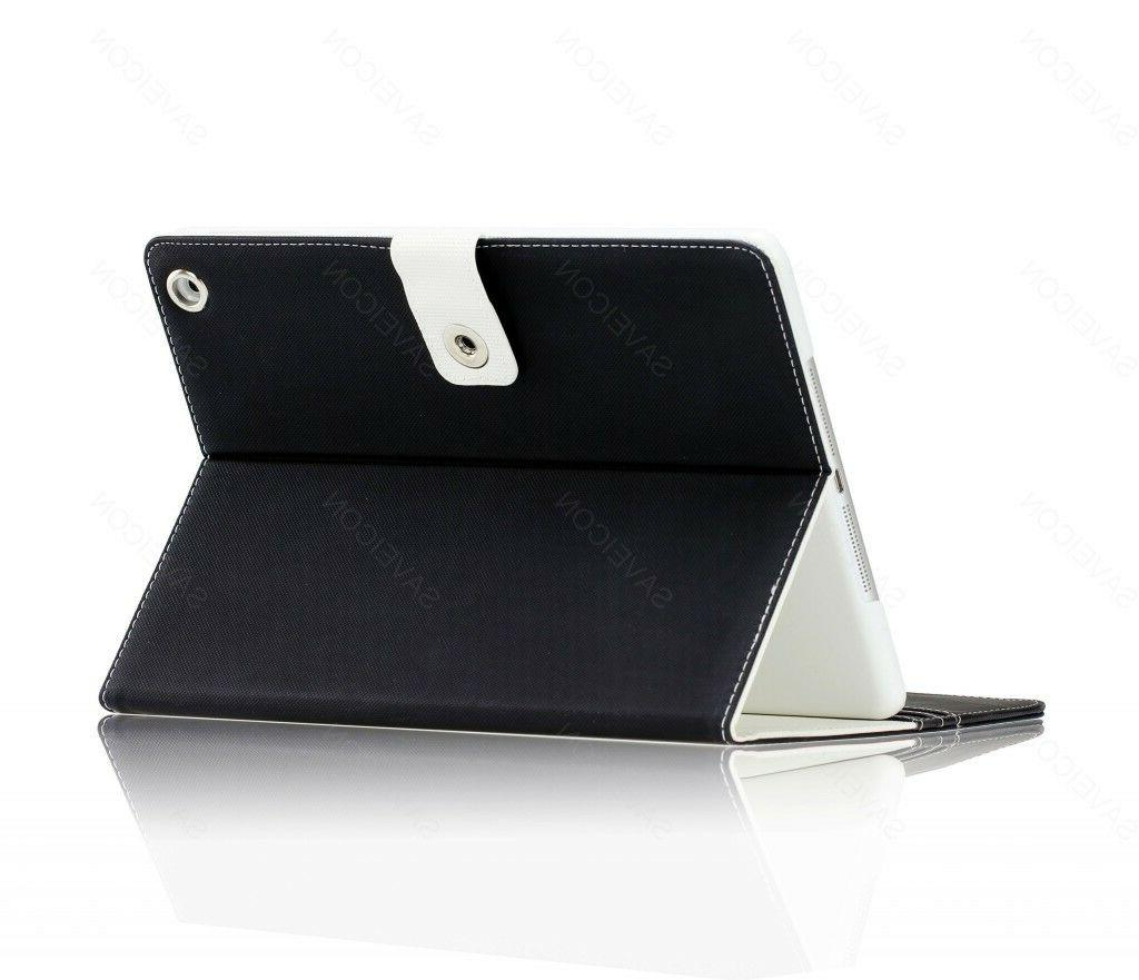 Folio Leather Cover Stand for iPad Air & Air 2 C2
