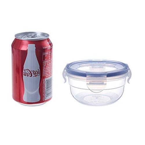 Storage Containers Bowls Airtight Lids, Reusable BPA Plastic Meal Prep Containers for Kids, Safe
