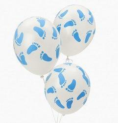 Fun Express FX IN-3/2288 25 Baby Shower Party Blue Footprint