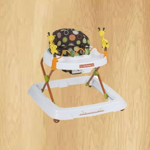 height adjustable and high back seat walker
