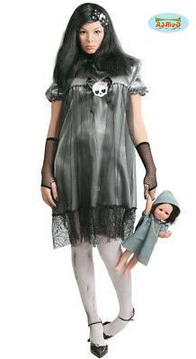 Horror Doll Baby Costume For Ladies Halloween Doll Besessen