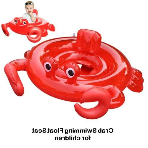 Inflatable Crab Swim Float Seat Baby Swiming Ring Underarm C